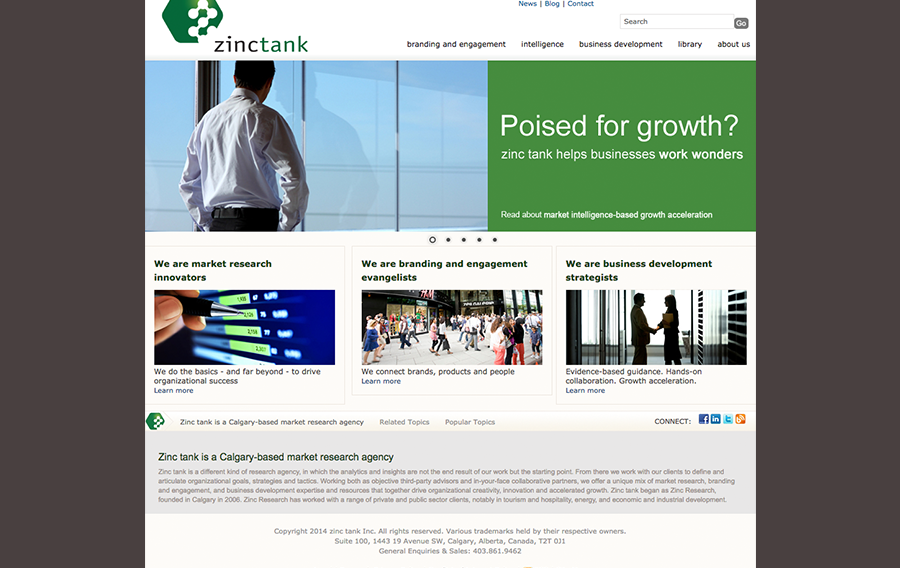 zinc tank home page